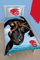 Dragons Seascape - Dekbedovertrek - Eenpersoons - 140 x 200 cm - Multi