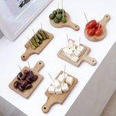 Kikkerland Mini snijplankjes (set van 6)