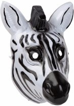 Zebra masker 3D plastic 22cm - dieren gezichtsmasker