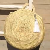 Myroundie - Roundie Bag - Ronde Ibiza Boho Tas 40 - Hand gevlochten Palmblad Tas – Maat S