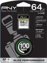 PNY flashgeheugens 64GB SDXC