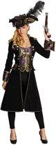 Rubie's Verkleedkostuum Piraat Dames Zwart/paars Maat 40
