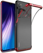 Teleplus Xiaomi Redmi Note 8T Case Luxury Laser Silicone Red + Nano Screen Protector hoesje