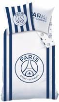 Paris Saint Germain Rayures - Dekbedovertrek - Eenpersoons - 140 x 200 cm - Wit