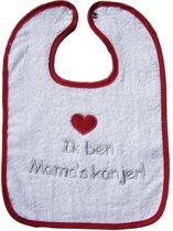 ISI Mini - Slab met tekst 'Ik ben Mama's kanjer' - Wit