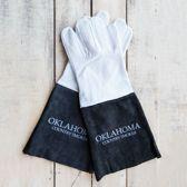 Leren Smoker Handschoenen Black & White