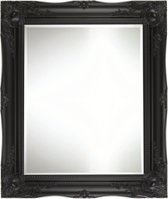 Klassieke Barok Spiegel Ethan Buitenmaat 56x66cm Zwart