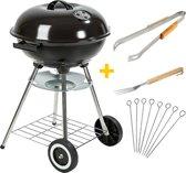 MaxxGarden Barbecue - houtskool - Festival - 45cm - extra accessoires
