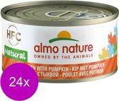 Almo Nature - Kip en Pompoen - Kattenvoer - 24 x 70 g
