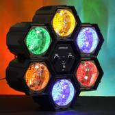 Bigben PFLED6 Disco Party LED Discolamp Verlichting met Sound Control - 6 Lichten Projector!