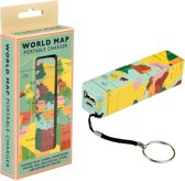Powerbank met wereldkaart - Wereldkaarten.nl