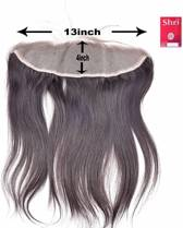 Shri 100% Indian Human Hair 13*4 Frontal Straight, 14 Inch, 130% Density