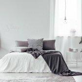 Muursticker Slaap Lekker Droomzacht -  Lichtgrijs -  120 x 25 cm  - Muursticker4Sale
