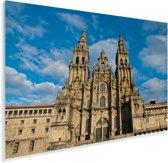 Voorkant van de gotische kathedraal van Santiago de Compostella Plexiglas 180x120 cm - Foto print op Glas (Plexiglas wanddecoratie) XXL / Groot formaat!