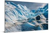 Ijs heuvels van de Perito Moreno gletsjer Aluminium 90x60 cm - Foto print op Aluminium (metaal wanddecoratie)