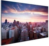 Zonsondergang over Johannesburg Aluminium 30x20 cm - Foto print op Aluminium (metaal wanddecoratie)