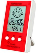 Thermometer hygrometer Baby kleur Rood