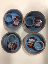 4 stuks - tapasschaal - lichtblauw