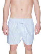 Boxershort Wit / Blauw Gestreept - L
