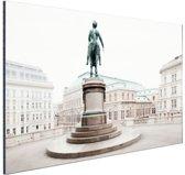 Aartshertog Albrecht Monument Wenen Aluminium 60x40 cm - Foto print op Aluminium (metaal wanddecoratie)