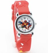 Spiderman kinderhorloge Rood