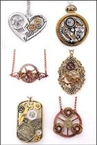 6x Ketting steampunk 6 assortie