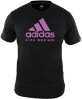 Adidas T-shirt Kickboxing Community Zwart Roze Dames-M