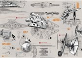 Komar Fotobehang Star Wars Blueprints 368x254 cm 8-493