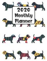 2020 Monthly Planner: Beagle Dog - 12 Month Planner Calendar Organizer Agenda with Habit Tracker, Notes, Address, Password, & Dot Grid Pages