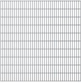 vidaXL Dubbelstaafmatten 2008 x 2030mm 28m Grijs 14 stuks