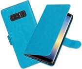BestCases.nl Turquoise Portemonnee booktype hoesje Samsung Galaxy Note 8