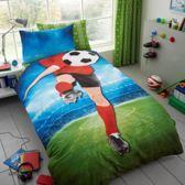 Voetbal 1 persoons dekbedovertrek, voetballer dekbed