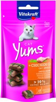 Vitakraft Cat Yums - Kip & Kattengras - Kattensnack - 40 g