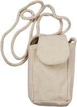 Tas voor mobiele telefoon, afm 5x9x3 cm, licht naturel, 3stuks