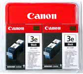 Ink Cartridge BCI-3E Black Twinpack Blis