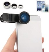 3 in 1 fish eye lens Lens Macro Visooglens voor Smartphone en Tablet ǀ Pride Kings®