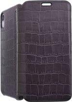 iPhone XR Bookcase hoesje - Graffi - Croco Grijs (Croco) - Leer