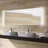 Badkamerspiegel Double 160x60cm Geintegreerde LED Verlichting Verwarming Anti Condens Lichtschakelaar Dimbaar