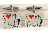 Manchetknopen I Love My Dad!