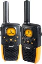 Alecto FR-26 Portofoon Twinset 7km | Laadstation en Headset aansluiting 2,5 mm | Oranje / Zwart
