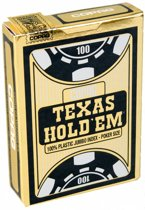Copag - Plastic Pokerkaarten - Texas Hold'em Gold - Jumbo Index - Black