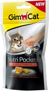 GimCat Nutri Pockets - Salmon & Omega - Kattensnack - 60 g