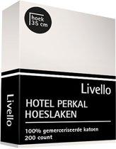 Gilder Hoeslaken Perkal - Ivoor 80x220