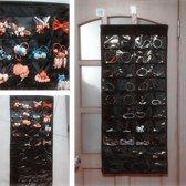 XL  Sieraden Organizer - Hangende Juwelenstandaard Met 80 Vakken -
