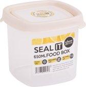Wham Seal It Vershouddoos - Vierkant - 650 ml. - Set van 4 Stuks - Creme