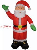 Kerstman 240 cm opblaasbaar met pomp