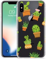 Apple iPhone X Hoesje Happy Cactus