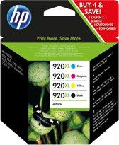 HP 920XL - Inktcartridge / Zwart / Cyaan / Magenta / Geel / Hoge Capaciteit