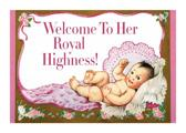 Baby Girl with a Crown - New Child Greeting Card