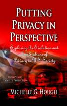 Putting Privacy in Perspective